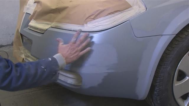 Как правильно покрасить бампер своими руками 91