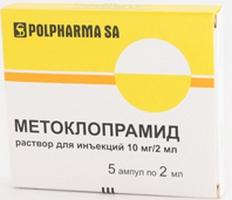 metoclopramide in ampoules