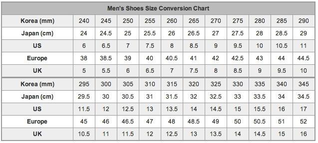 размер обуви в сантиметрах: