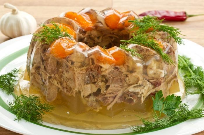 Заливное из свинины рецепт с фото