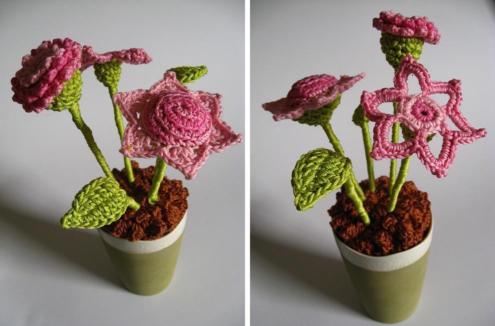 Вязание: цветы, украшения Записи в 19