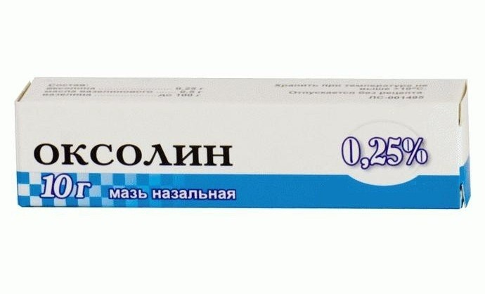 oxolinic ointment for rhinitis