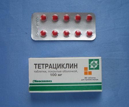 Таблетки Тетрациклин Инструкция