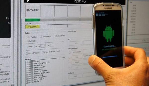 How to flash samsung phone