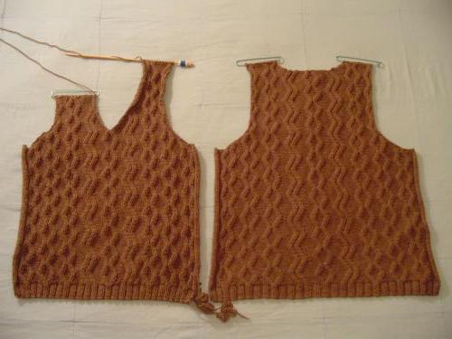 уроки рукоделия вязание безрукавки спицами Sylru