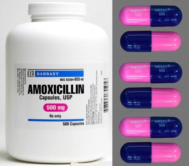 амоксициллин 500 при ангине как пить