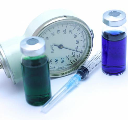 decrease in diastolic pressure