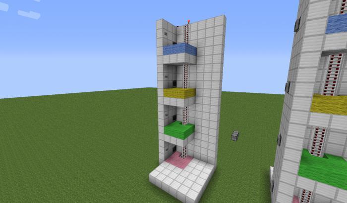 Как сделать лифт в майнкрафте на планшете