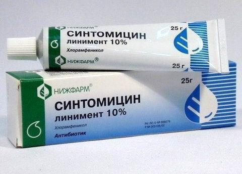 Liniment synthomycin