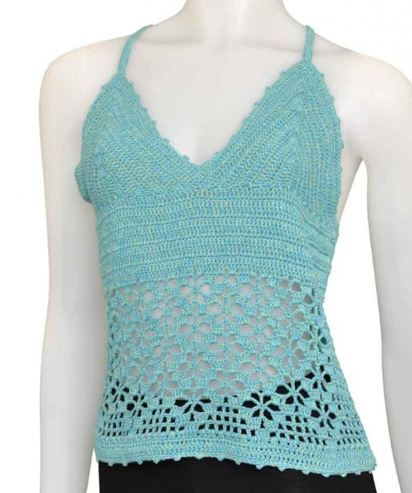 crocheted tops and tops
