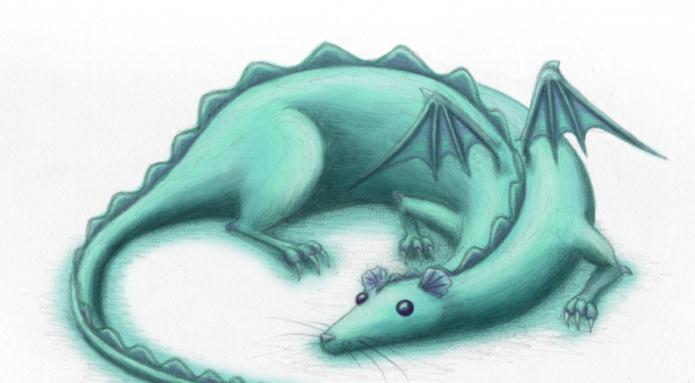 Крыса и дракон картинки