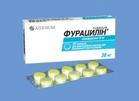 how to dilute furatsilin tablets
