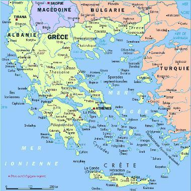 эгейское море на карте