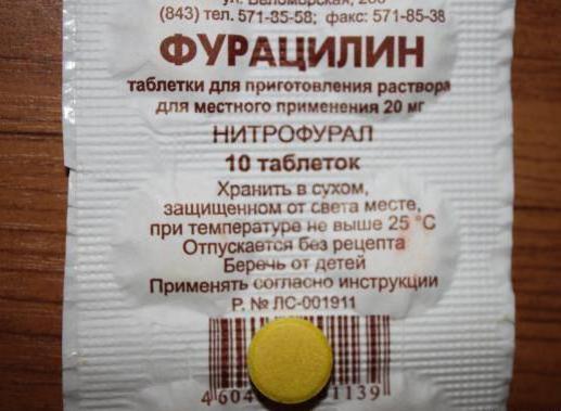 фурацилин инструкция по применению в таблетках: