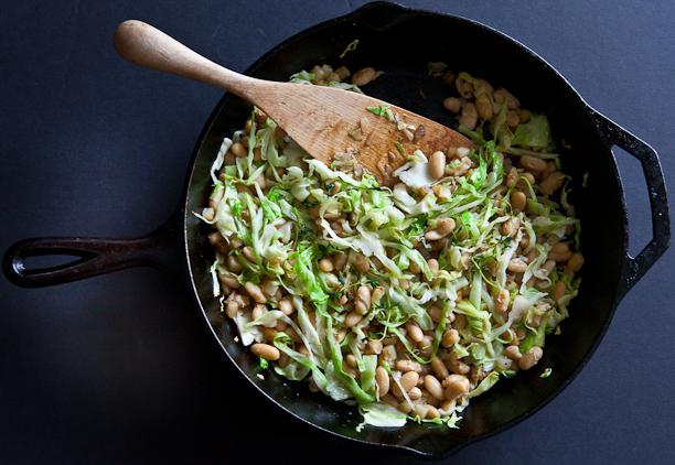 cabbage stew with beans