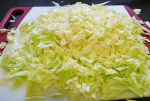 stewed cabbage with potatoes and meat