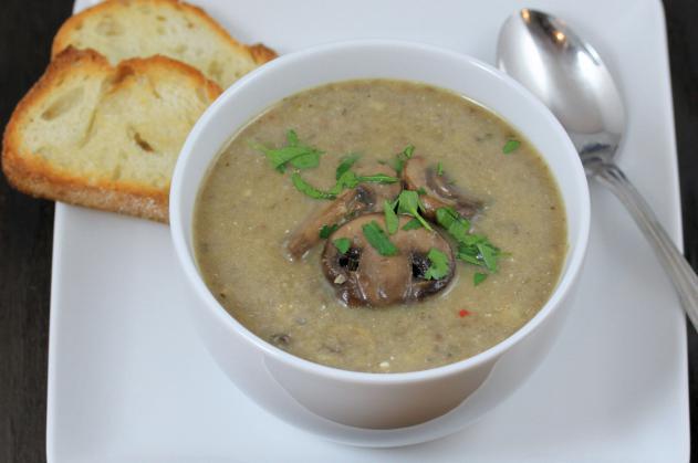 рецепт грибного супа с курицей и сливками