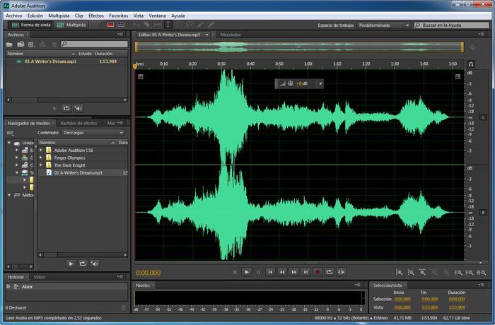 program for imposing music on music adobe audition