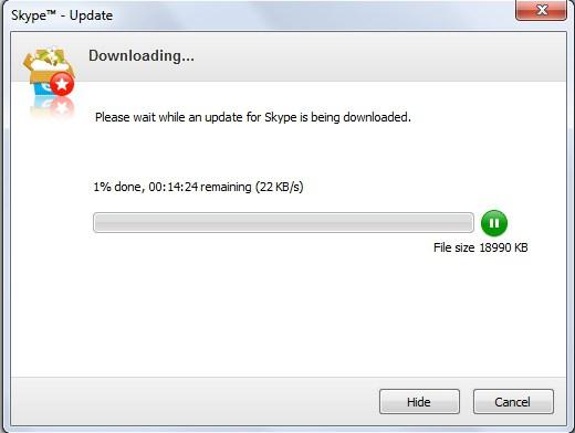 Как сделать обновление для скайпа
