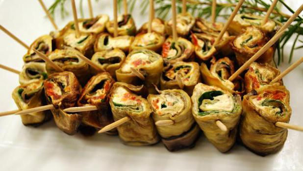 eggplant rolls with garlic