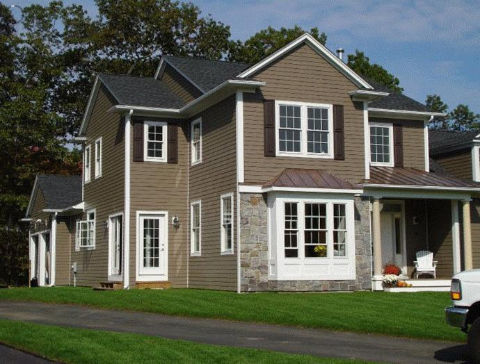 how to sheathe a wooden house with siding