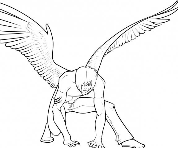 как нарисовать ангела образец