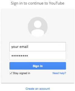 регистрация в ютубе зарегистрироваться