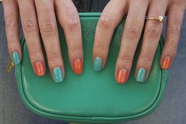 paint your nails with different varnishes