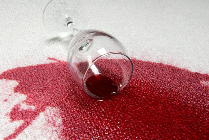how to remove stains from red wine