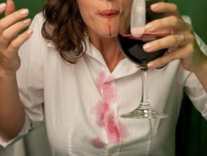how to wash stains from wine
