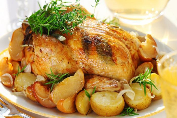 Картошка запеченная с курицей