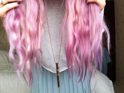 Как покрасить волосы без краски в розовый цвет