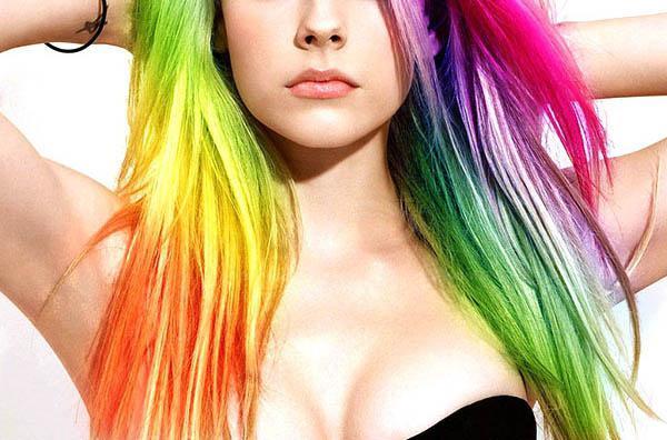 Как покрасить волосы в разные цвета в домашних условиях