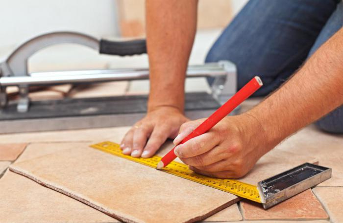 how to start laying tiles