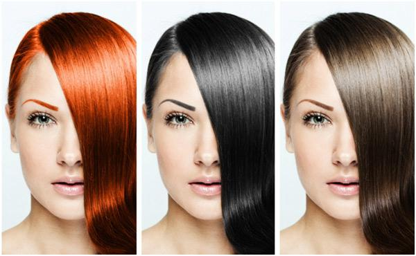 selection of hair color