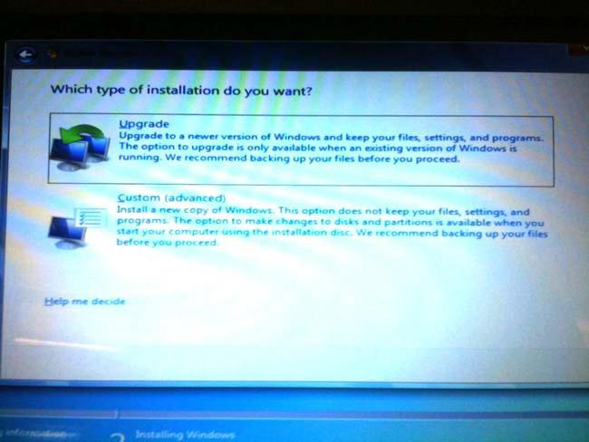 how to reinstall windows 7 through