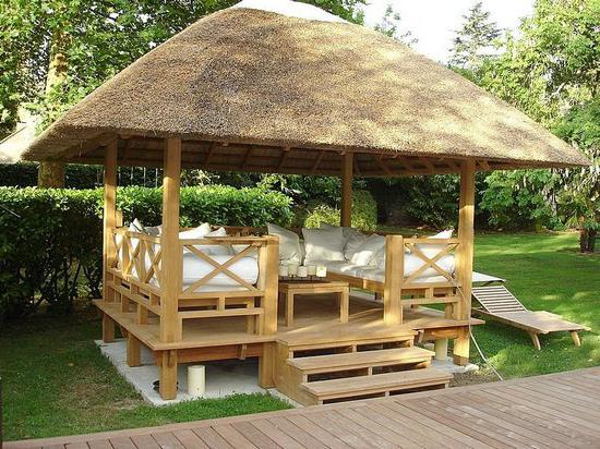 How to make a gazebo in the country