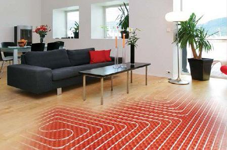 Underfloor heating from central heating