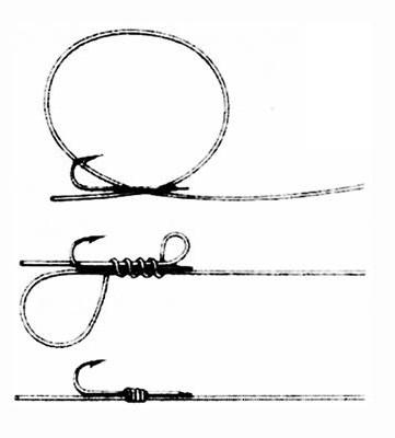 как вязать крючки рыболовные snood
