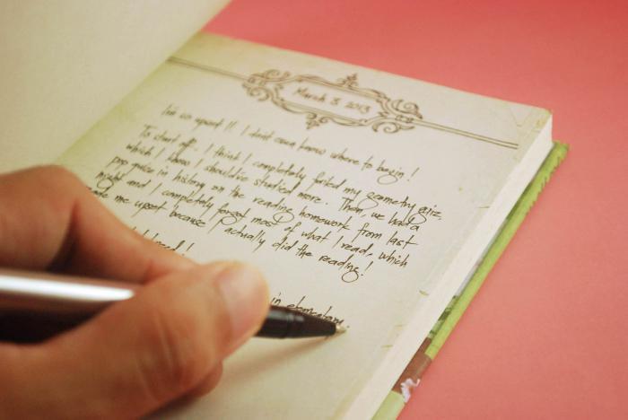 как правильно оформить личный дневник