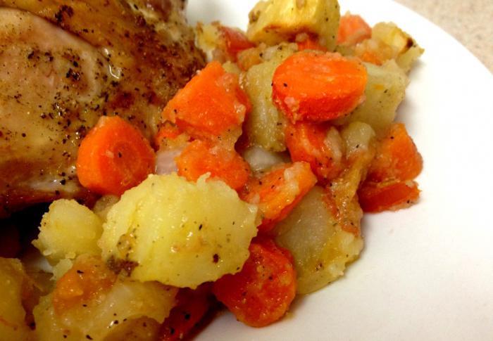Как приготовить картошку и курицу в мультиварке
