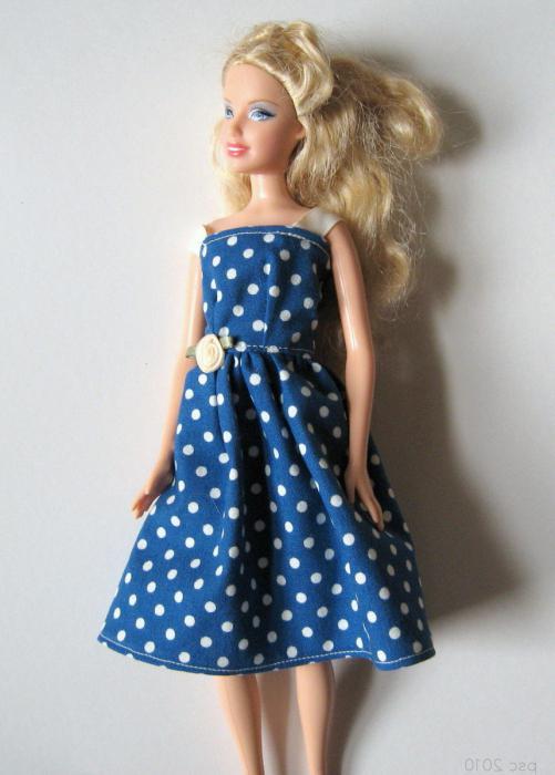 синее платье ажур