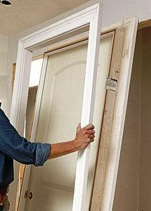 how to install interior door box