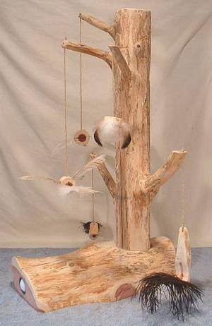 Когтеточка для кошек из дерева своими руками 51
