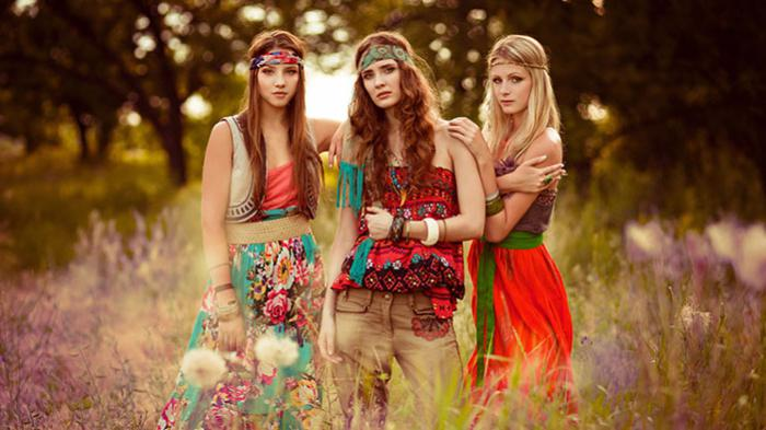 Hippie style in clothes