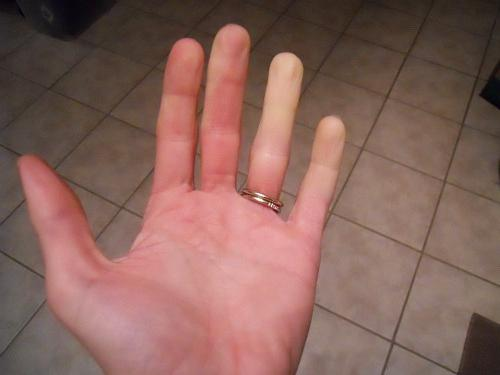 Как сделать что бы пальцы горели