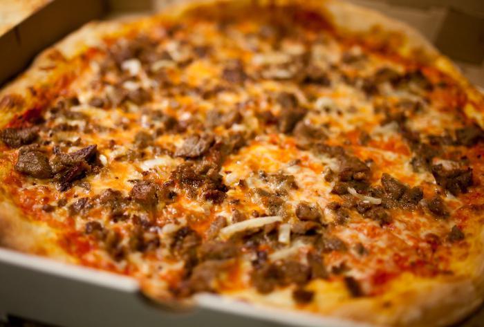 Пицца с фаршем - рецепт приготовления с фото