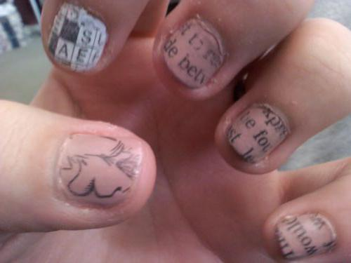 manicure with a newspaper how to do