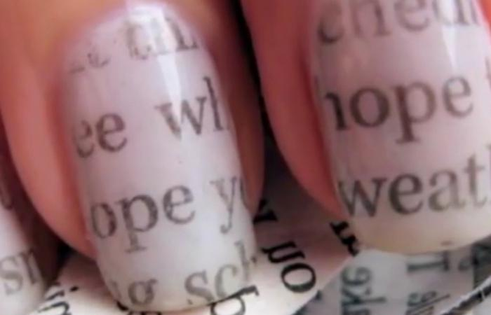 newspaper manicure