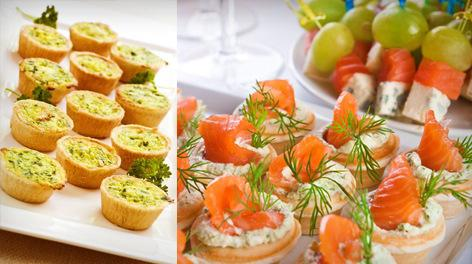 tartlets with fish and caviar